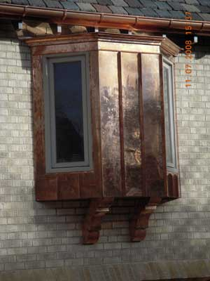Custom Copper Gutters And Flashing